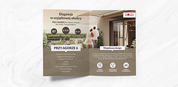 Projekt folderu dla warszawskiego developera