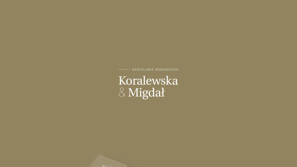 Koralewska & Migdał – projekt logo