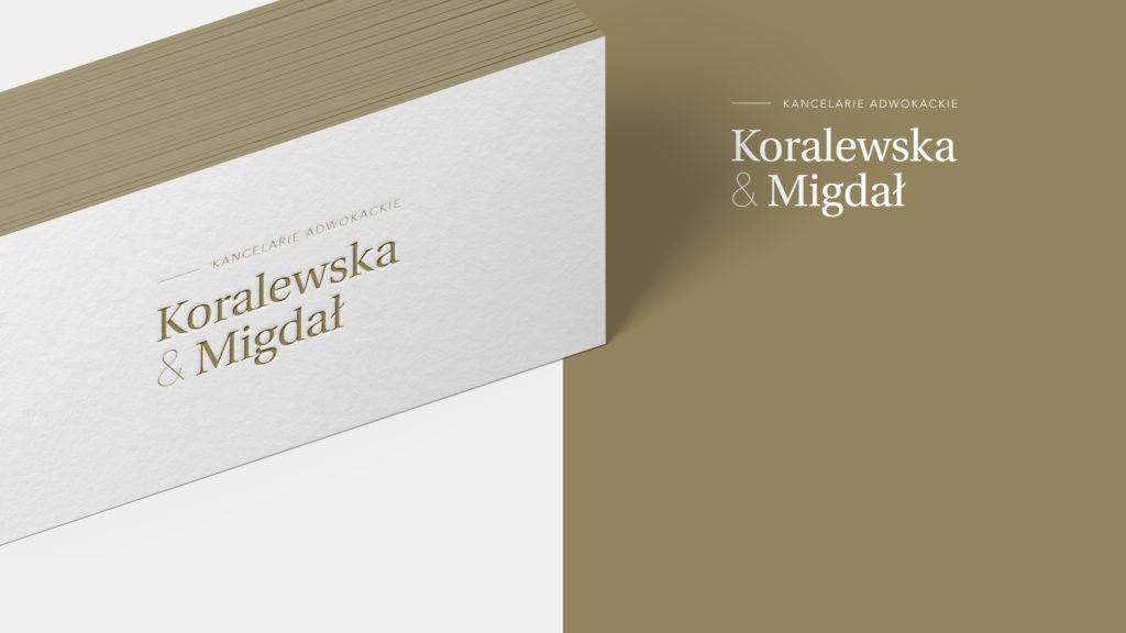 Koralewska & Migdał – wizytówki